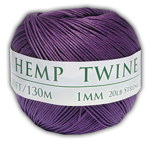 430 Feet of 1mm 100% Hemp Twine Bead Cord in Purple (Hemp Mm 1)