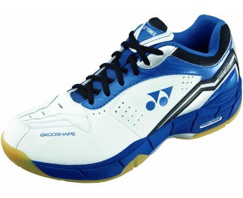 YONEX SHBSC4MX Men's Badminton Shoes, White/Blue/Black, US9.5