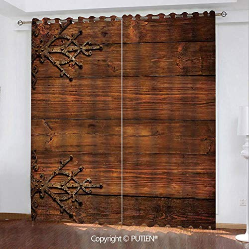 Used, Satin Grommet Window Curtains Drapes [ Rustic,Antique for sale  Delivered anywhere in USA