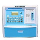 CFZHANG Piggy Bank Cash Coin Electronic Voice Prompt Money Bank Safe Can Password Saving Box ATM Bank Safe Locks Smart Piggy Box For Children/Christmas Gift, blue
