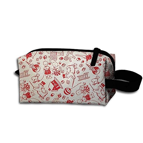 Makeup Cosmetic Bag Holiday Happy Celebration Zip Travel Portable Storage Pouch For Mens Womens ()
