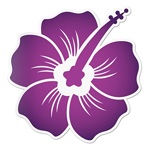 Hibiscus Decal Midnight Purple Overlay Sticker Vinyl Rear Window Car Truck Wall Water and Fade Resistant 4 Inches