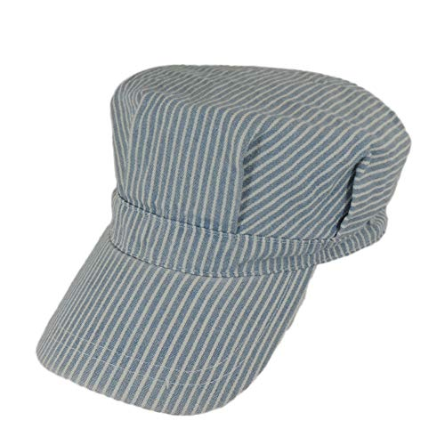 Adult's Adjustable Blue and White Striped Railroad Engineer...
