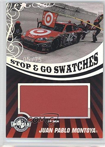 Juan Pablo Montoya #5/75 (Trading Card) 2009 Wheels Main Event - Stop & Go Swatches - Holo Pit Sign #SGS-JPM