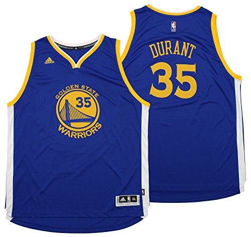 (adidas NBA Men's Golden State Warriors Kevin Durant Swingman Jersey, Blue 4X-Large)