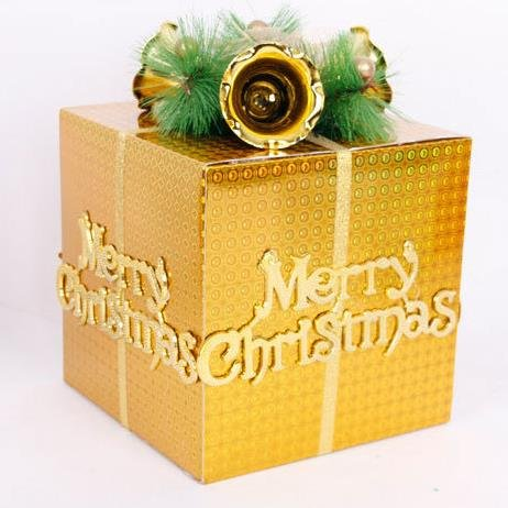 Diy Merry Christmas Tree Decorations Festival Apple Presents Gifts Box Bags - 1PCs
