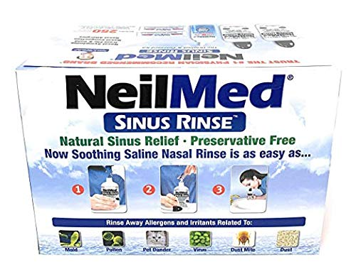 NeilMed Sinus Rinse - 2 Bottles - 250 Premixed Packets (Sinuflo Rinse Neilmed Ready)