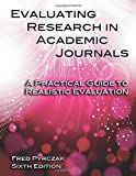 img - for Evaluating Research in Academic Journals: A Practical Guide to Realistic Evaluation book / textbook / text book