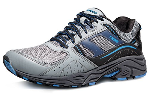 TSLA TF-T330-LGB_Men 9 D(M) Men's Outdoor Sneakers Trail Running Shoe T330
