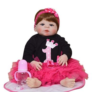 f540207204a76 kingko® Poupée Reborn Bébé Jouet de Bain Complète Corps avec Vêtements en Silicone  Yeux Ouverts