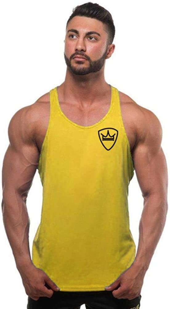 LLD Camicia Senza Maniche in Cotone Moda Canotta Uomo Fitness Camicia Uomo palestre Bodybuilding Allenamento Gilet Fitness Uomo