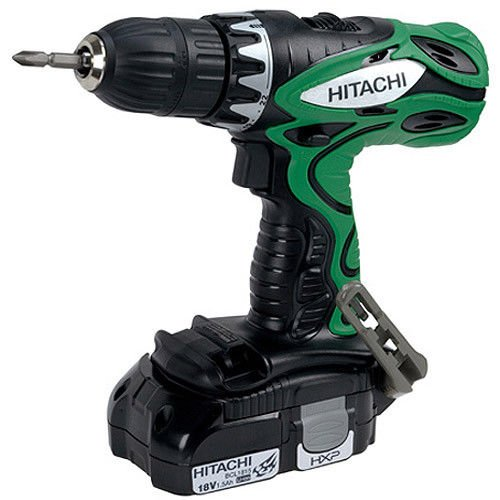 Hitachi DS18DFLM 18-Volt 1/2-Inch Lithium-Ion Cordless Drill/Driver (Includes 2 Batteries + Bit Set)