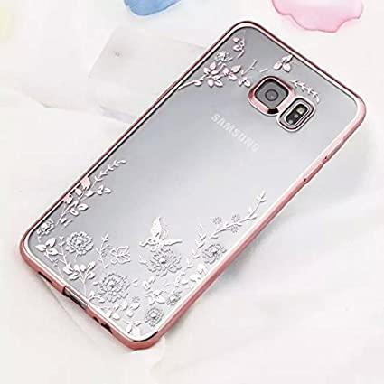 info for 9493b 497c4 Samsung Galaxy Note 5 Case,Inspirationc® [Secret Garden] Rose Gold and  White TPU Plating Clear Shiny Cover Series for Samsung Galaxy Note ...