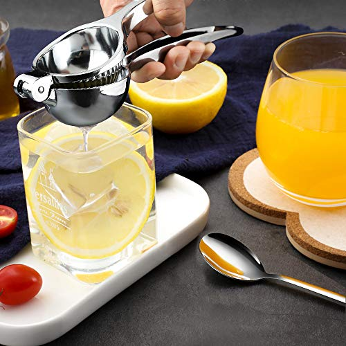 Lemon Squeezer,Icnice Stainless Steel Hand Press Juicer Manual Citrus Squeezer Orange Juicer with Lemon Grater and Mixing Spoon for Juicing Oranges,Lemons & Limes