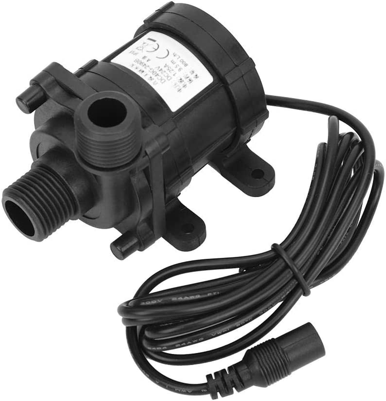 Fdit DC - Bomba de agua sin escobillas, 24 V, de bajo consumo, 800 l/h