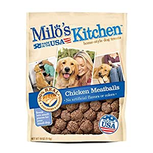 Amazon.com : Milo's Kitchen Chicken Meatballs Dog Treats