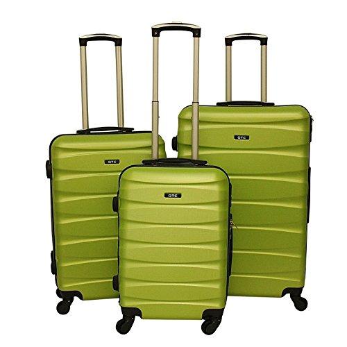 Hartschalen Reisekoffer QTC MAILAND A Trolley Case M L XL Reise Tasche Koffer (L (68 cm ), Neongrün)