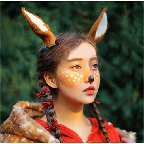 Large Cute Reindeer Antlers Headband Deer Hair Accessory for Halloween Christmas New Year Cos-play Party Gifts (Reindeer Ears) ()