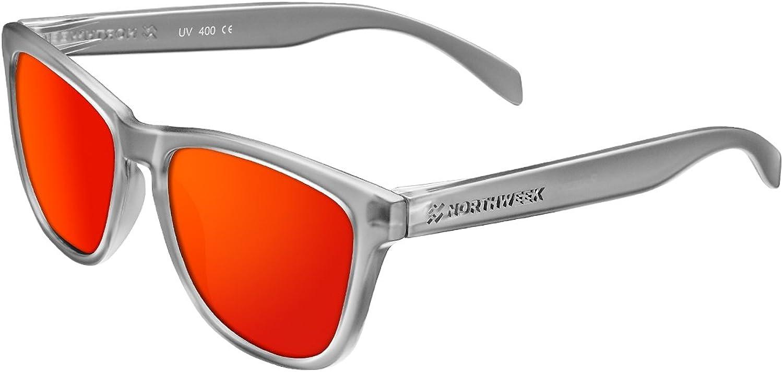 Northweek Regular Wheel - Gafas de Sol para Hombre y Mujer, Polarizadas, Gris/Rojo