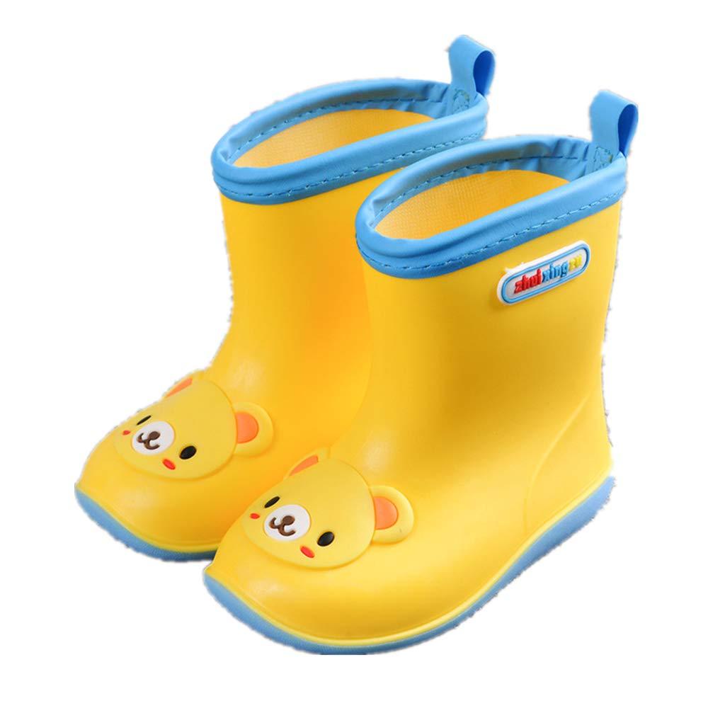 Gusha Kids Waterproof Booties Children rain Boots Cute Rubber Shoes Outdoor