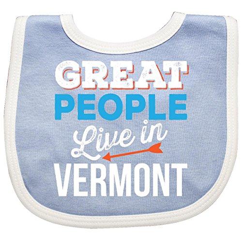 Inktastic - Vermont Funny Gift Idea Baby Bib (Vermont Baby Bib)