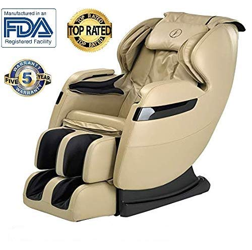(New FOREVER REST FR-5Ks Premier Back Saver, SHIATSU, Zero Gravity Massage Chair with Foot Rolling and Built in Heat, Stretch Mode (Beige))
