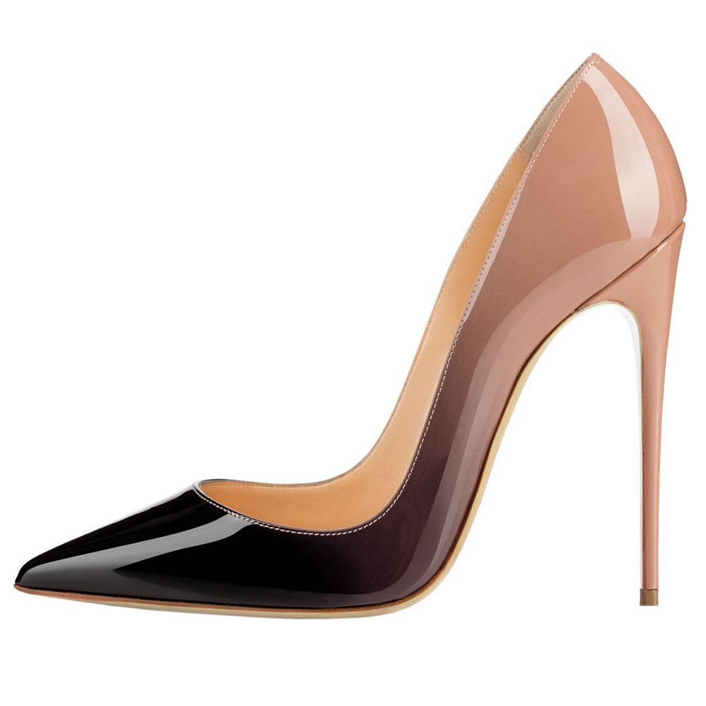 MERUMOTE Women's Pointed Toe High Stiletto High Toe Heel Patent Leather Dress Party Usual Pumps 120MM B078TG1JC8 Platform 48b5ac