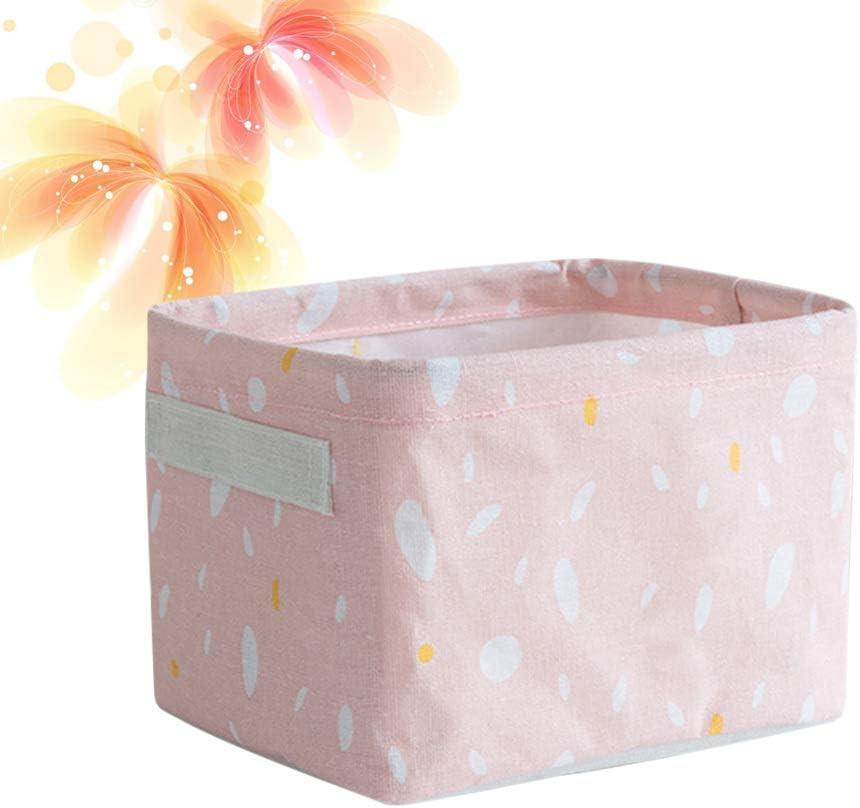 Topath Panier de rangement en coton pour salle de bain ou meuble de rangement Gris bleu
