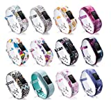 DingTool For Garmin Vivofit JR 2 Bands, Silicone Colorful Replacement Band Wrist Bands Strap Accessory for Garmin Vivofit JR/JR 2 Bracelet (12pcs)