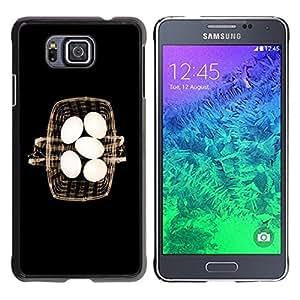 Be Good Phone Accessory // Dura Cáscara cubierta Protectora Caso Carcasa Funda de Protección para Samsung GALAXY ALPHA G850 // Basket Eggs