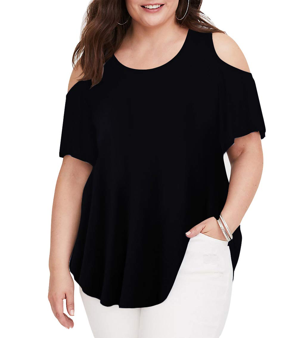 Women Tops Plus Size Short Sleeve for Work and Blouses T-Shirt
