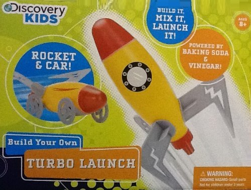 amazoncom discovery kids build your own turbo launch rocket and car powered by baking soda and vinegar toys games