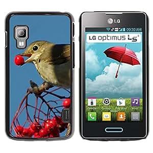 Print Motif Coque de protection Case Cover // F00003544 la alimentación de aves // LG Optimus L5 II Dual E455 / E460