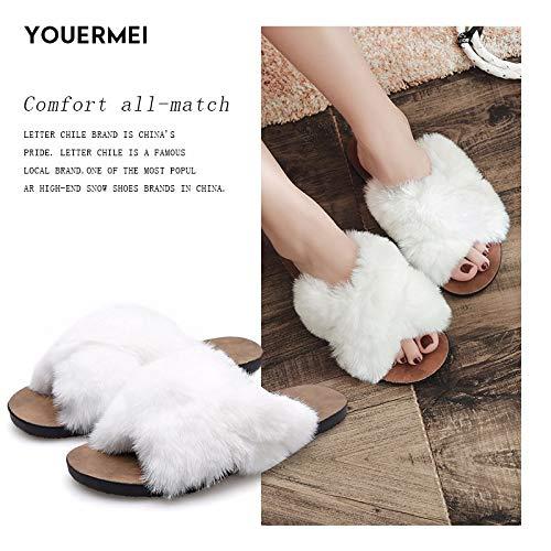 Pantofole Bianco Autunno Cotone In Inverno Donna fluff Scarpe Nuove Da Xiaogege E CUYq5BPxwn