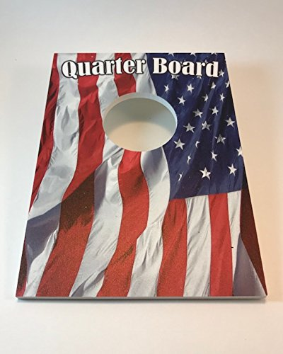 XL Yard Games 2 Quarter Boards -Where Table Top Cornhole and Quarters (not included) mixes! It is Fun, 2 boards (included) for 1-4 players. Add Boards + People = Speed Boards by XL Yard Games