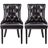 Dining Chair Leather Dining Chairs Dining Room Chair With Solid Wood Legs Set of 2