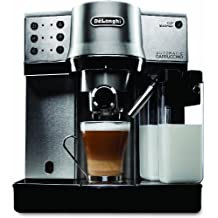 DeLonghi EC860 Dedica Cappuccino 15 Bar Espresso and Cappuccino Machine with One Touch Cappuccino System, Stainless Steel
