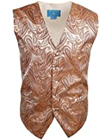 EGC1B07-08 Mens Paisley Gifts For Boyfriend Waistcoat Microfiber Vests By Epoint