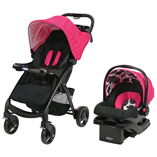 Graco Verb Click Connect Travel System, Azalea