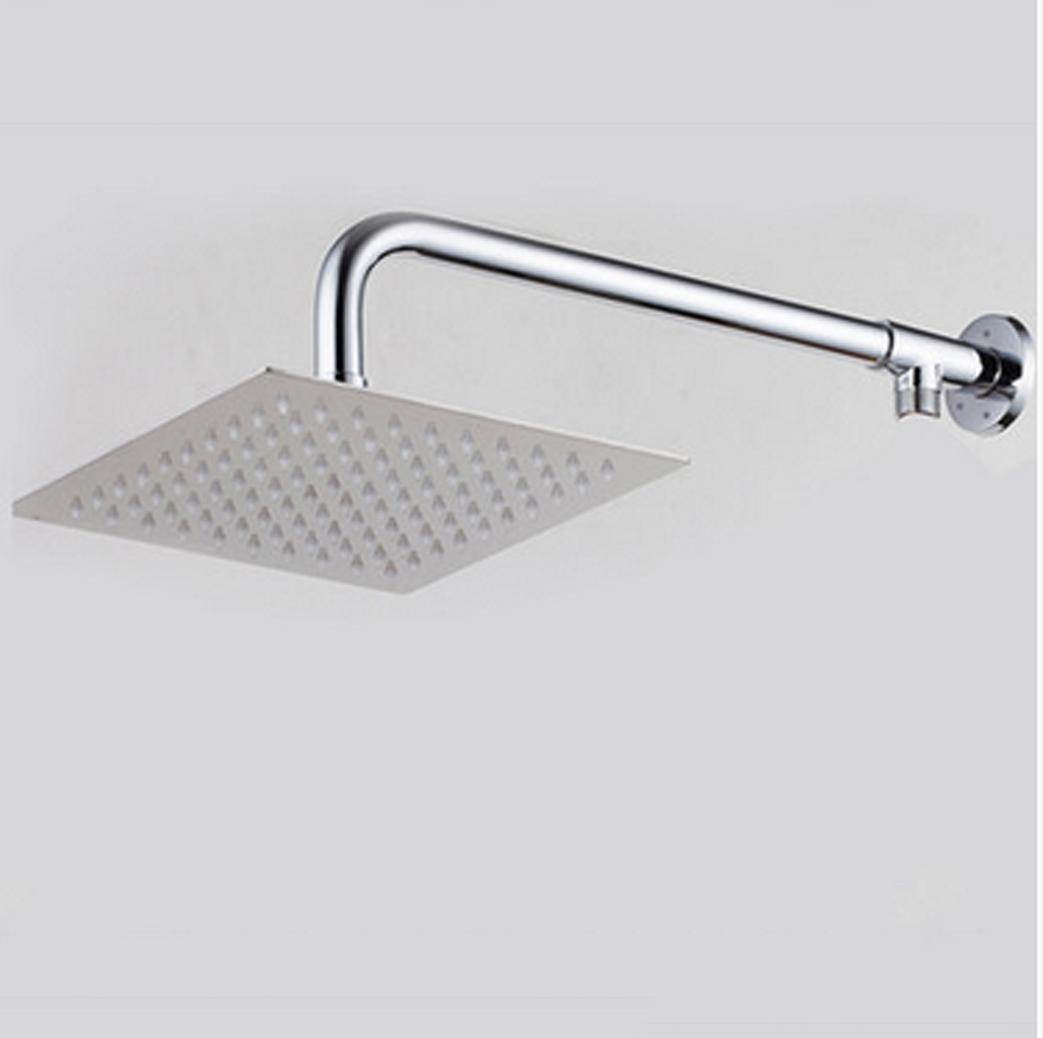 XUEXINSuper thin Super booster large rain shower head , + 8 inch square bar
