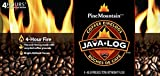 Pine Mountain Java-log Firelog, 4-Hour Burn Time, Recycled Coffee Grounds, Pack of 4