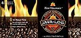 Pine Mountain Java-Log Firelog, 4-Hour Burn Time, Recycled Coffee Grounds, 4 Logs