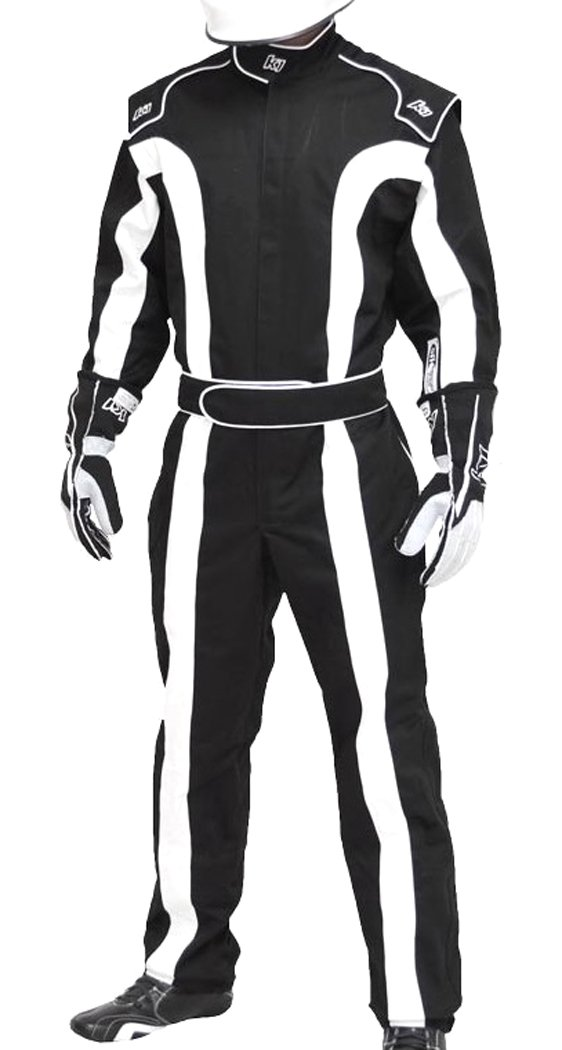 Single Layer SFI-1 Proban Cotton Fire Suit Black//White, Medium K1 Race Gear Triumph 2