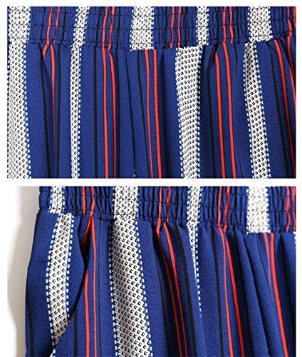 Avec Casual 2xl Femme 1 Jeune Haute Extensible Taille couleur Pour Confortable Pantalon Sarouel Bleu Imprimé 60nwI0qU