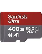 SanDisk Ultra 400GB microSDXC Speicherkarte + Adapter bis zu 100 MB/Sek, Class 10, U1, A1
