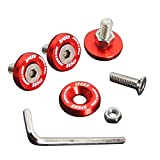 1998 accord fender - Upgr8 U8201-1002 Aluminum 10mm 4 Pieces Fender Washer Kit (Red)