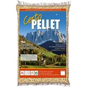 Binderholz Certo pellet per stufe e caldaie di alta qualità 100% abete certificato Enplus A1 in sacco da 15 kg (1) 4 spesavip