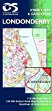 Front cover for the book Londonderry Street Map (Northern Ireland O/S) by Ordnance Survey Ireland
