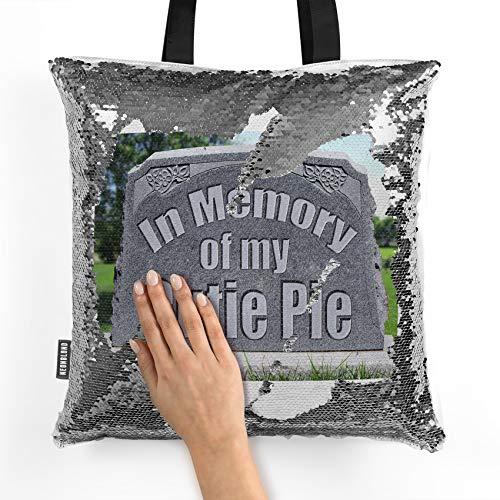 NEONBLOND Mermaid Tote Handbag In Memory of my Cutie Pie, R.I.P Reversible Sequin