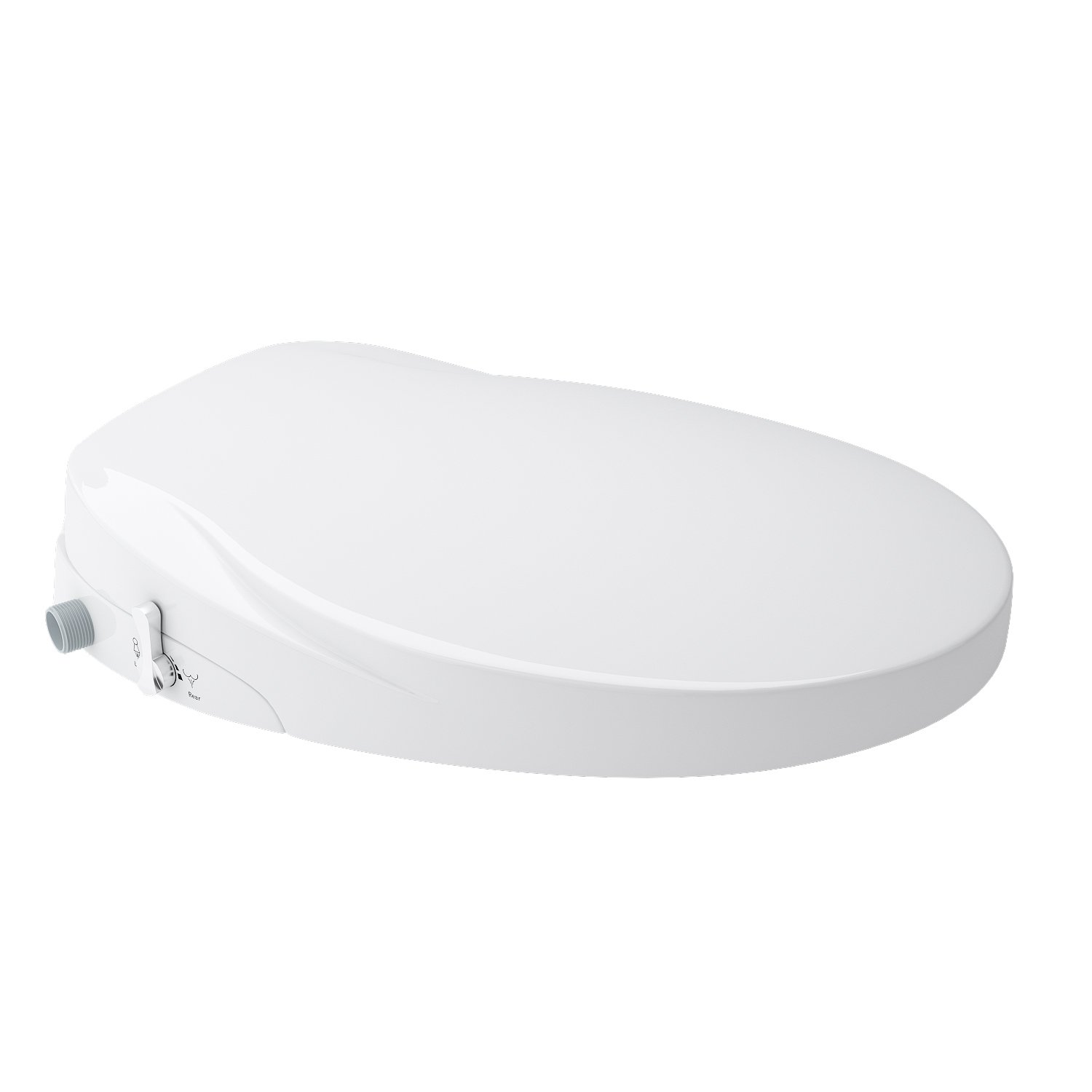 Homdox Bidet Smart Toilet Seat in Round Self Cleaning - Dual Nozzle Has Posterior and Female Wash - Fresh Water- Non-Electric Mechanical Bidet Toilet Attachment with Adjustable Water Pressure White